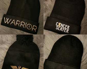 Beanie/Hat - Childhood Cancer Awareness - Perfect Christmas Gift for your Warrior!