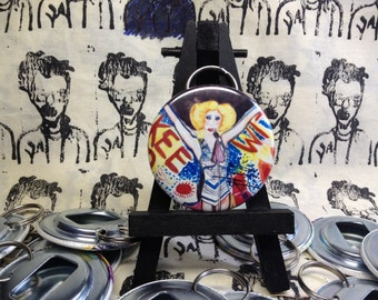 Hedwig and the Angry Inch original art Bottle Opener