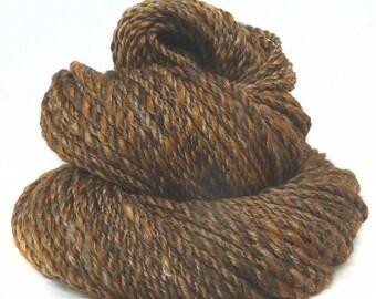 Handspun handdyed yarn BFL wool Merino wool silk plied