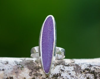 Sugalite Sterling Silver Ring Size 5.25