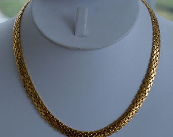 """NAPIER Gold tone Chain Necklace, 16"""", Vintage (TB122)"""