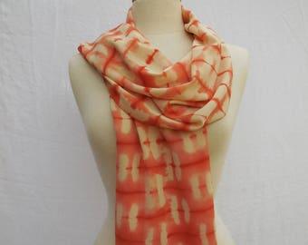 Orange silk crepe scarf