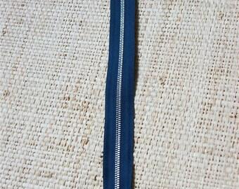 Size 24, 5cm, color blue zipper