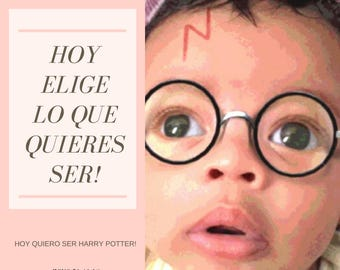 """Quotes Print. Art Print // Quote Ilustration//Motivational//Inspirational// """"Hoy Elige Lo Que Quieres Ser"""". Funny Home Decoration. Unframed"""
