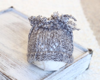 Upcycled Baby Boy Beanie Hat, Upcycled Photography Prop