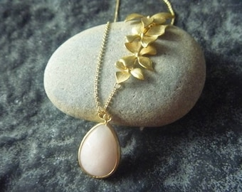 Gold Plated teardrop Orchid necklace