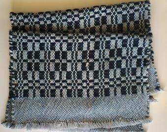 Handwoven placemat, single 100% cotton rustic placemat, handcrafted boho table decor, monks belt weave  table linen