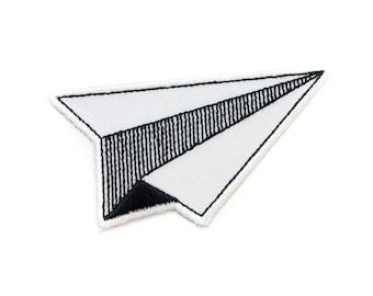 Avion géométrique (Patch autocollant)