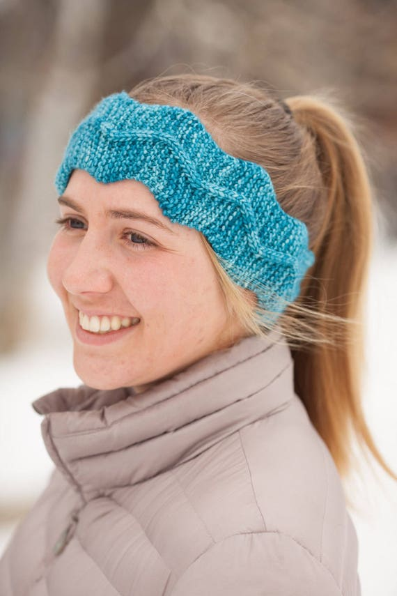 Knitted Headband Pattern Pdf Headband Knitting Pattern Easy