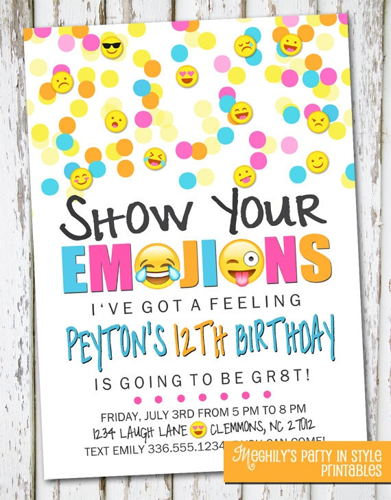 Emoji invite emoji invite emoji invitation emoji birthday like this item filmwisefo Images