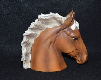 Horse Head Planter, Palomino Horse, Figural Horse Planter, Inarco Planter, Horse Head Pot, Palomino Horse Gift, Animal Planters, Horse Decor