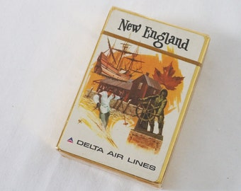 Vintage Delta Airlines Playing Cards New England Promo Advertising