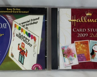 2 DVD ROM Birthday Card Maker And Hallmark Card Studio 2009