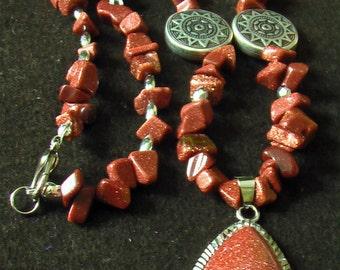 Goldstone Necklace.