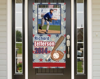 Baseball Birthday Door Banner  ~ Personalize End of the Season Banner Party Banner