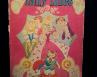 ON SALE 1940's Vintage 1947 Fairy Tales Childrens Book Vintage Collectible Childrens Whitman Book