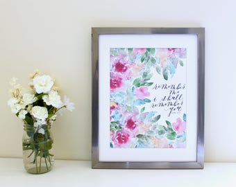 Remember Me // Islamic Art | Wall decor | calligraphy | watercolor print | hand lettered | painting