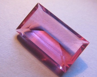 Vintage Glass Rhinestone (1) Beautiful Large Pink High Quality Stone Cab