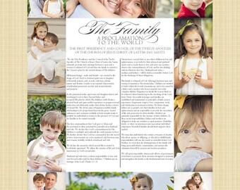 Custom Photo LDS Family Proclamation Printable - DIGITAL