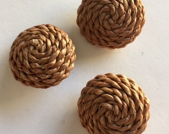 Coiled Rope Buttons - 3 Buttons