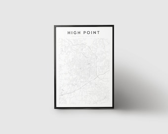 High Point Map Print