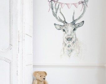 Deer Bunting Removable Wall Sticker