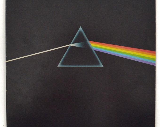 Vintage 70s Pink Floyd Dark Side of the Moon Gatefold Prog Rock Album Record Vinyl