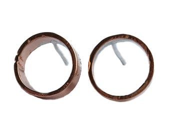 By BIEK ear Stud ' o' from recycled copper | Collection ' Cu '