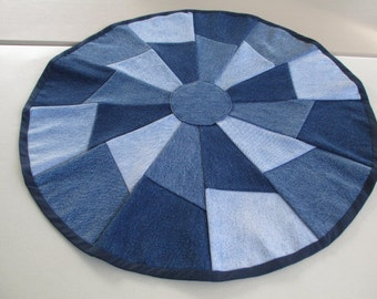 Denim table mat