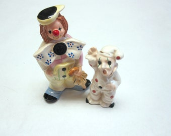 Clown Figurines Set Of Two