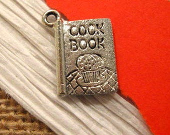 Antique Pewter Cook Book Charm from Quest Beads and Cast