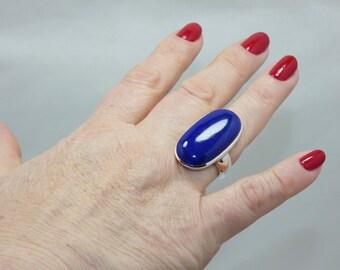 Natural  Lapis Lazuly  925 Silver Ring