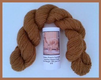 Alpaca Yarn Medium Fawn 200 Yds. 2.2 oz. Sport Weight