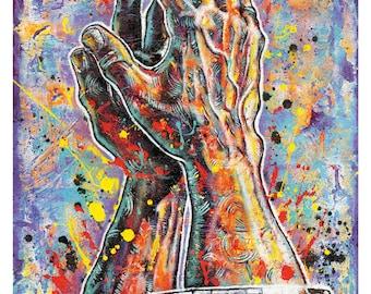 ORU's Praying Hands - 12 x 18 Signed, High Quality Art Print
