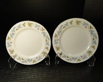 "TWO Fine China of Japan Vintage Salad Plates 7 3/4"" 6701 Set of 2 EXCELLENT!"