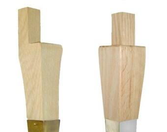Hoosier Leg - Hoosier Style Oak Kitchen Cabinet Leg with  LEG CAP