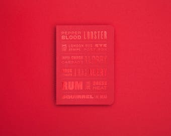 The Colour of Things Notebook | Journal | Sketchbook | Plain Pages | Red