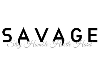 Savage Design Files SVG, PNG, Ai and JPG