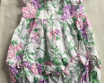 Baby Easter Romper,18 Month Romper,Baby Girl Easter,Baby Easter Jumper,18 Month Easter,Floral Romper,Flower Baby Romper,Baby Party Outfit
