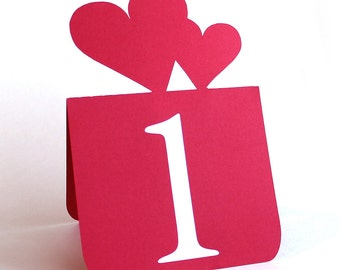 Double Heart Table Numbers Set of 1 to 25, Valentines Day Wedding, Wedding table decor, Wedding table numbers
