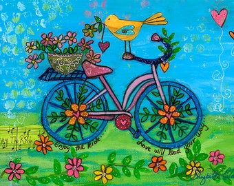 Bycicle Love 8x11 Print by Elizabeth Claire