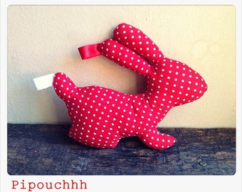 Decoration / toy red with white dots