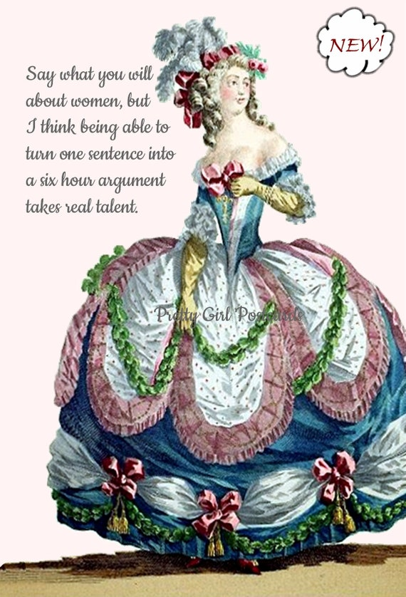 """Strong Woman Postcard Marie Antoinette Card """"Say What You Will About Women..."""" Sweet Gift For Her Pretty Girl Postcards Funny Postcard"""