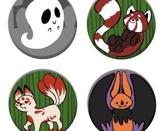 Animal Buttons Set 2