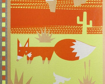 red fox bee land notebook