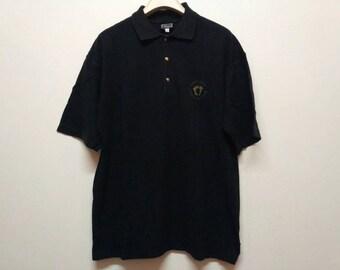 Vintage Versace Jeans Couture Black Polo Shirt Size Medium