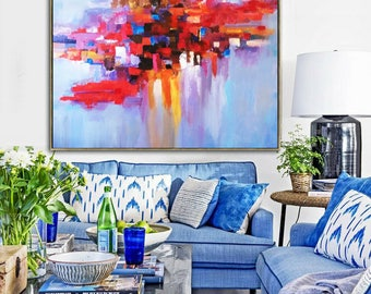 Oil Painting, Painting, Original art, Painting On Canvas, Canvas Art, Palette knife, Art Painting, Oil Large Art, Large Art, On Canvas
