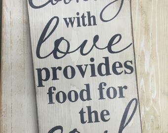 Cooking with love sign
