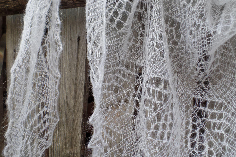 Bufanda de verano de mohair abrigo niño seda mantón idea de