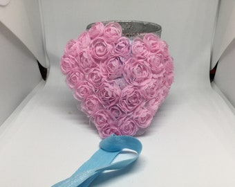 Pink heart headband